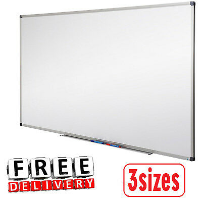 Magnetic Dry Erase White Board 3 Sizes Office School Supplies Aluminium Frame