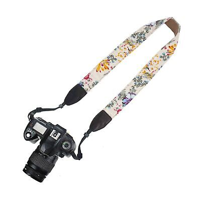 Elvam Floral Pattern Camera Neck Shoulder Strap Belt for Men