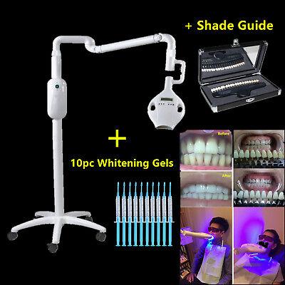 Dental Teeth Whitening Lamp Bleaching Machine Led Light 10pc Gels Shade Guide