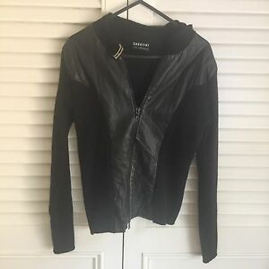 Sabatini women's leather jacket with woollen sleeves Woollahra Eastern Suburbs Preview