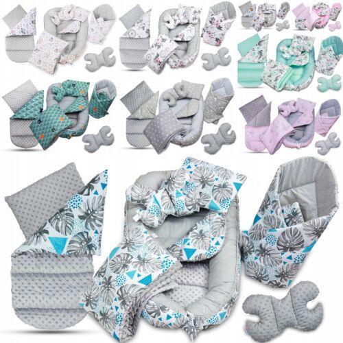 6PCS BABY SET COCOON BLANKET INFANT NEST DOUBLE SIDED CUSHION
