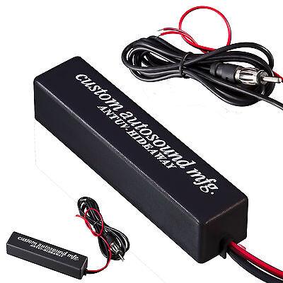 New Universal Car Hidden Amplified Antenna Kit 12v Electronic Stereo AM/FM Radio