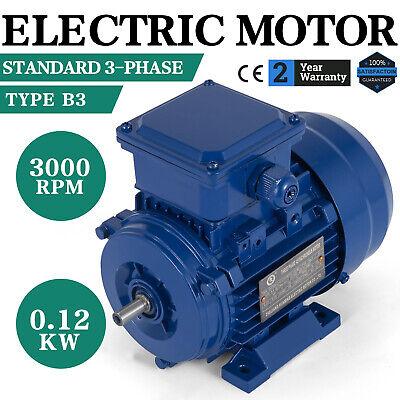 Electric Motor Standard Motor 3 Phase 400v B3 0.12kw 3000 Rpm 50 Hz F Insulation