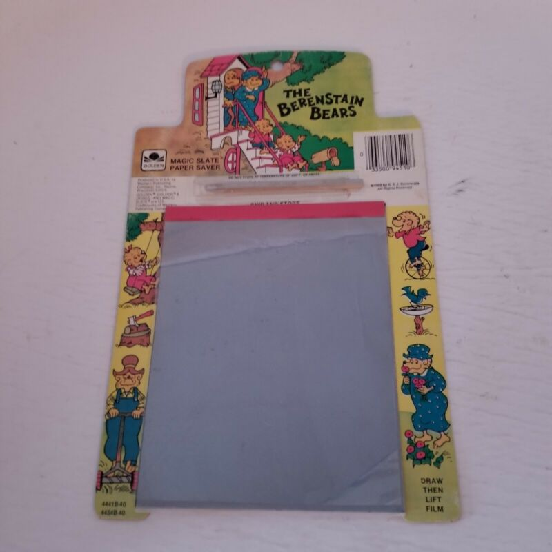 Vtg 1982 Golden Berenstain Bears Magic Slate Paper Saver Drawing Toy