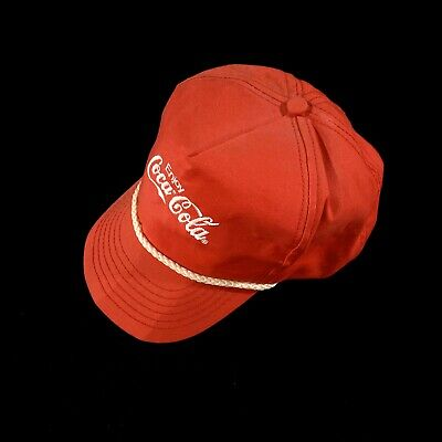 Vintage Coca Cola White Rope Embroidered Snapback Hat