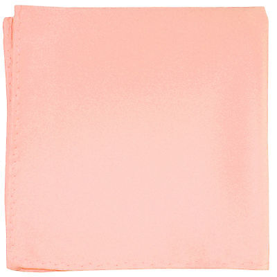 New Men's Polyester pocket square hankie only Mauve Rose Dusty pink prom wedding