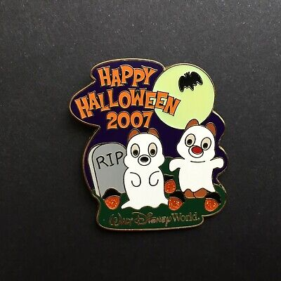 WDW - Happy Halloween 2007 - Cute Characters - Chip & Dale - LE Disney Pin - Cute Happy Halloween