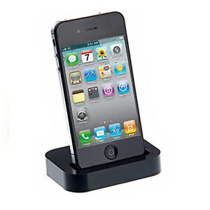 charger desktop dock stand docking station 30 pin audio for iphone 4 4s 4gs ebay. Black Bedroom Furniture Sets. Home Design Ideas