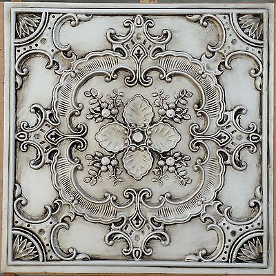 PL19 Faux tin countryside style ceiling tiles decorative wall panels 10tile/lot