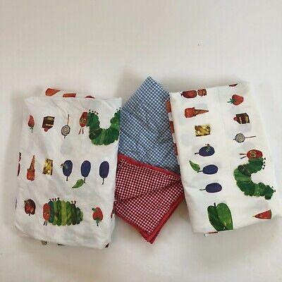 Pottery Barn Kids Eric Carle Hungry Caterpillar Twin Sheet Set Cotton