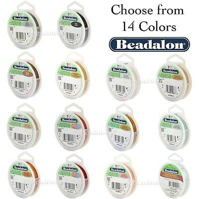 Beadalon Bead Stringing Wire 7 Strand Flex Wire (8 Sizes - 14 Colors) - 30ft (Beadalon Bead Stringing Wire)