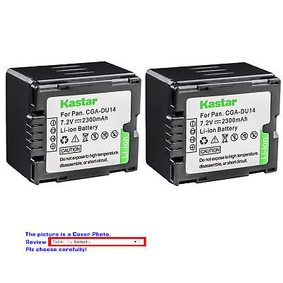 Kastar Replacement Battery for Panasonic CGR-DU14 CGA-DU14 NV-GS80 NV-GS85 Cga Du14 Lithium Ion Battery