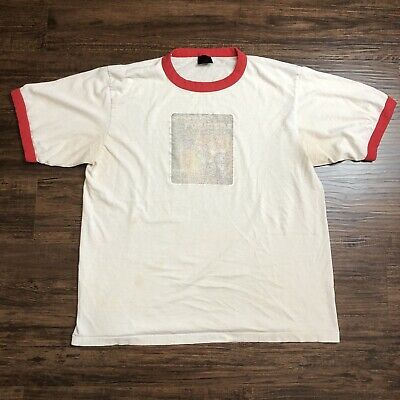 Vintage 90s Distressed Transformers Ringer T Shirt Fits Large Grunge