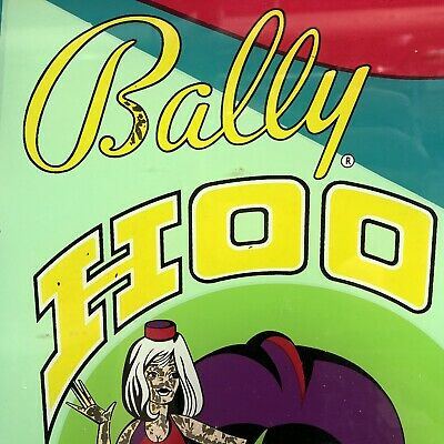 Bally Hoo Pinball Machine Game Backglass