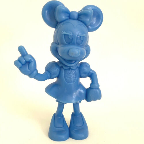"Vintage Walt Disney Productions Blue Minnie Mouse Figure, Marx 1972 USA, 5.75"""