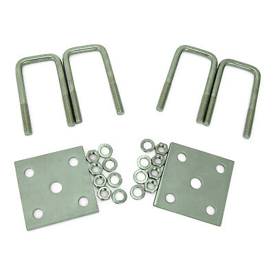 Boat Trailer Axle U Bolt Kit All Stainless Steel 1 2 Inch