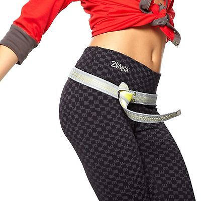ZUMBA BELT GLOW BELT SILVER & GOLD NEW IN PACKAGE WITH TAGS WORKOUT ONE SIZE