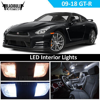 White LED Interior Light Replacement for 2009-2018 Nissan GTR GT-R