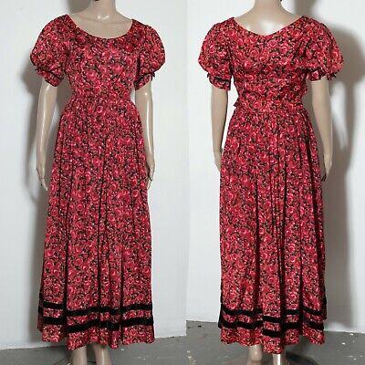Burlesque Vampire Costume (2 piece set red roses bustier full skirt costume burlesque brothel sexy vampire)