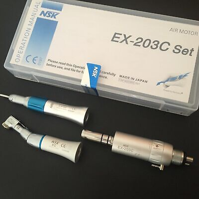 Dental Low Speed Handpiece Kit Ex-203c E-type 4 Holes Nsk Style Us Stock