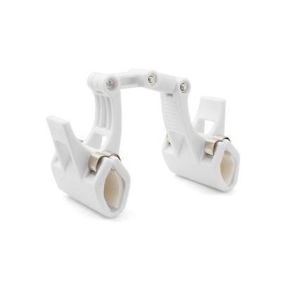 Spannklemme Haltearm 17,5 cm Klammer für Lichter Leuchten Taschenlampe weiß