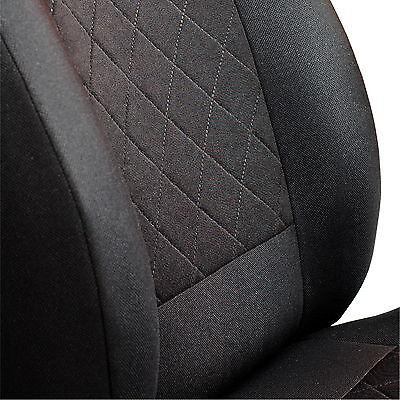 Schwarze Sitz (Schwarze Sitzbezüge für AUDI A4 Autositzbezug Komplett)
