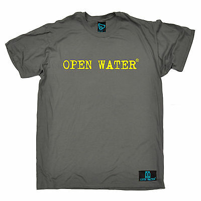 Open Water Yellow Text Brand Logo T Shirt Tee Scuba Diving Funny Birthday Gift