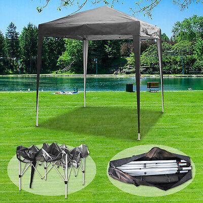 2x2m Grey Gazebo Marquee Pop Up Canopy Waterproof Outdoor Garden Party Tent