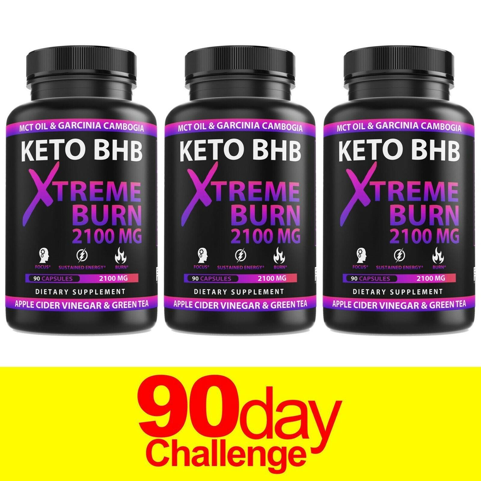 Keto Diet Pills* Boost Energy* BHB  Advanced Weight Loss Burn Capsules*3-Bottles
