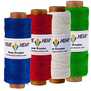 Natural-Hemp-Twine-Cord-Pack-of-4-TRUE-HEMP-spools-1mm-20lb-820feet-248m