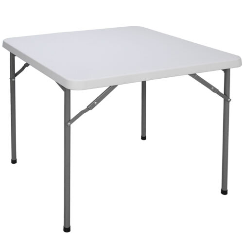 3ft  Height Adjustable Craft Camping and Utility Folding Carry Table White Furniture