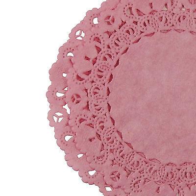 ROSE Petal PINK PAPER LACE DOILIES | 4