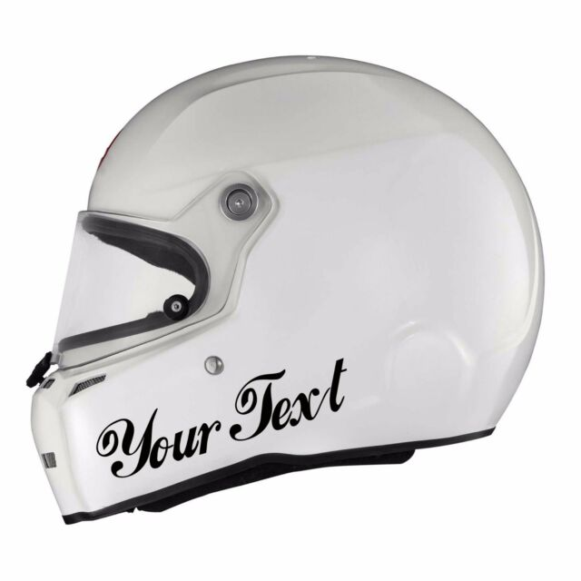 X Custom Vinyl Decal Sticker Car Kart Helmet Race Choose Colour - Custom vinyl stickers for helmets