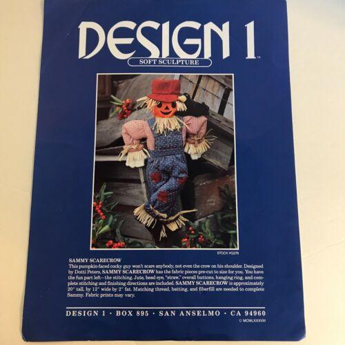 Vintage Design 1 Soft Sculpture Sammy Scarecrow 1988 Designed by Dotti Peters