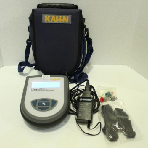 Kahn Hygroport Portable Dewpoint Hygrometer 75-8013 Calibrated 12/2016 + Case
