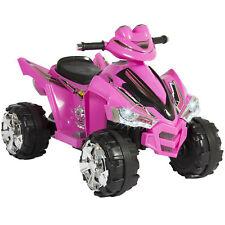 Kids Ride On ATV Quad 4 Wheeler 12V Battery Electric Power Led Lights (Pink)