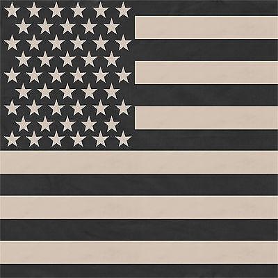 "Subdued US Flag Jumbo Cotton Bandana 27"" x 27"""