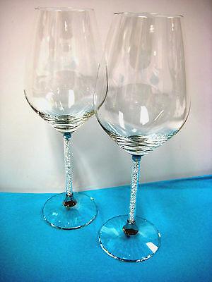 CRYSTALLINE RED WINE GLASSES SWAROVSKI SET OF 2 GLASSES #1095948
