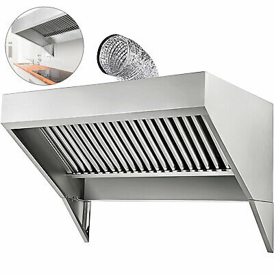 Food Truck Trailer Concession Hood 4x30 Commercial Kitchen 430 Stainless Steel