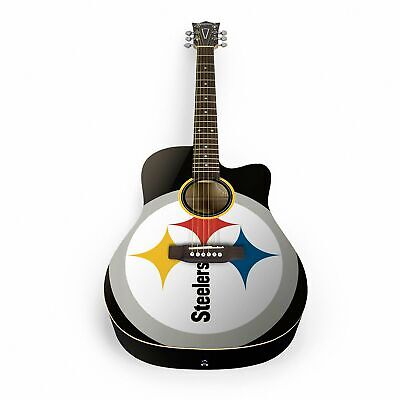 Woodrow Pittsburgh Steelers Acoustic Guitar with Gigbag - ACNFL25