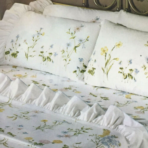 Springmaid Wondercale percale double flat sheet 2 standard pillowcases Summer bb