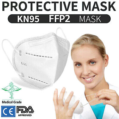 KN95 N95 Face Mask FFP2 4 Layer Surgical Disposable Mouth Guard Cover Facemasks
