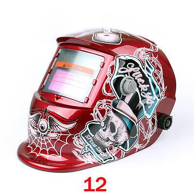Solar Auto Darkening Welding Helmet Arc Tig Mig Welder Lens Grinding Mask R Us