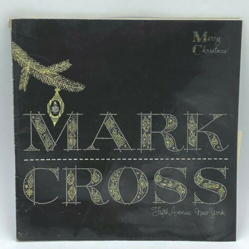 Vintage 1953 Mark Cross Catalog Christmas Luxury Leather Goods 5th Ave NYC BK16