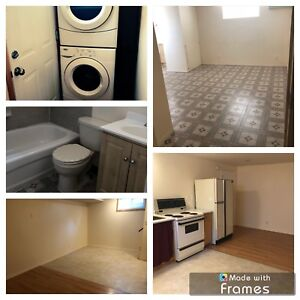 Available immediately! Charming basement bachelor suite