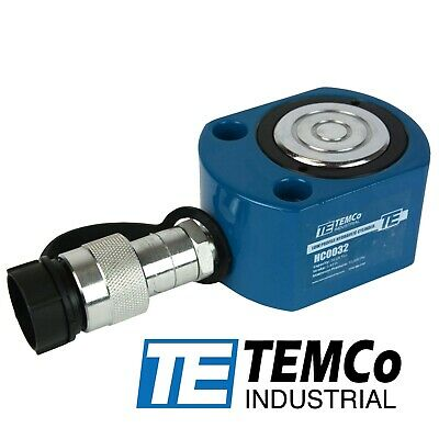 Temco Hc0032 Low Profile Height Hydraulic Cylinder Puck 20 Ton 0.43 Stroke