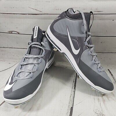 newest 40bff 35e82 Nike Air Max Shoes Size 15 Baseball Cleats MVP Elite 2 Metal Gray White New  NWOB