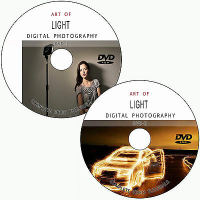 LEARN ART OF LIGHT/LIGHTING FOR DIGITAL PHOTOGRAPHY TRAINING TUTORIALS ON 2 DVDs