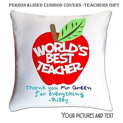 Personalised Teachers Gift Custom Printed Cushion Cover Case Best Teacher Gift  (Best Halloween Customs)