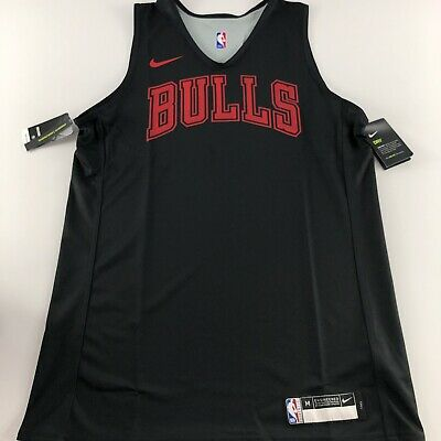 Nike NBA Chicago Bulls Player Issue Training Jersey Vest Reversible Medium Tall
